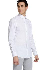 Trussardi Jeans ανδρικό πουκάμισο μονόχρωμο regular-fit - 52C00069-1T002243 - Λευκό