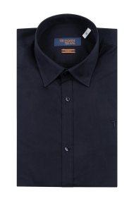 Trussardi Jeans ανδρικό λινό πουκάμισο μονόχρωμο Slim fit - 52C00145-1T003082 - Μπλε Σκούρο
