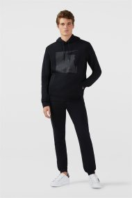 Trussardi Jeans ανδρικό παντελόνι φόρμα fleece jogging - 52P00095-1T002268 - Μαύρο