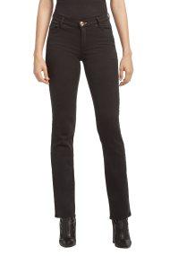 Trussardi Jeans γυναικείο παντελόνι Garment dyed classic fit - 56J00022-1T001416 - Μαύρο