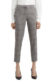 Trussardi Jeans γυναικείο καρό cigarette - 56P00097-1T001517 - Γκρι