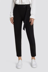 Trussardi Jeans γυναικείo παντελόνι cigarette μονόχρωμο - 56P00124-1T000698 - Μαύρο