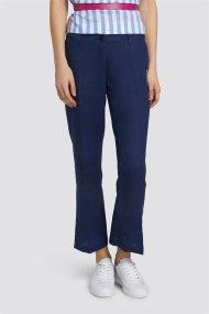 Trussardi Jeans γυναικείo cropped παντελόνι λινό - 56P00134-1T002276 - Μπλε