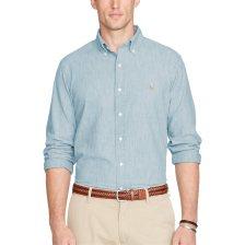 Polo Ralph Lauren ανδρικό πουκάμισο Classic Fit Chambray Shirt - 710548536001 - Γαλάζιο