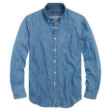 Polo Ralph Lauren ανδρικό πουκάμισο Classic Fit Denim - 710548537001 - Γαλάζιο