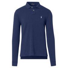 Polo Ralph Lauren ανδρική μπλούζα πόλο μπλε Slim Fit Mesh Long-Sleeve - 710681126004 - Μπλε