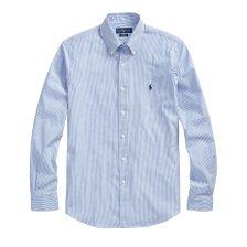 Polo Ralph Lauren ανδρικό ριγέ γαλάζιο πουκάμισο Classic Fit Striped - 710705967001 - Γαλάζιο