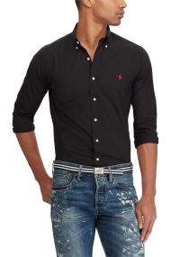 Polo Ralph Lauren ανδρικό πουκάμισο Classic Fit Poplin - 710705967007 - Μαύρο