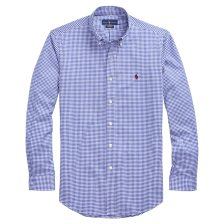 Polo Ralph Lauren ανδρικό καρό πουκάμισο Classic Fit Gingham - 710716296015 - Μπλε