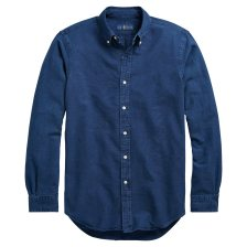 Polo Ralph Lauren ανδρικό πουκάμισο μπλε indigo Classic Fit Oxford - 710716303001 - Μπλε