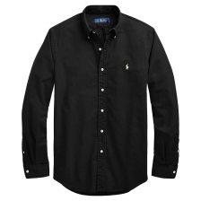 Polo Ralph Lauren ανδρικό πουκάμισο μαύρο Classic Fit Oxford - 710716303002 - Μαύρο