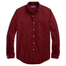 Polo Ralph Lauren ανδρικό πουκάμισο μπορντό Classic Fit Oxford - 710716303004 - Μπορντό