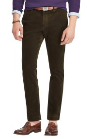 Polo Ralph Lauren ανδρικό παντελόνι κοτλέ Stretch Slim Fit Corduroy - 710722642003 - Λαδί