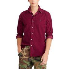 Polo Ralph Lauren ανδρικό πουκάμισο μπορντό Slim Fit Corduroy Shirt - 710723580006 - Μπορντό