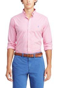 2366269f59a6 Polo Ralph Lauren ανδρικό πουκάμισο με μικροσχέδιο καρό Classic Fit Gingham  - 710744243006 - Ροζ