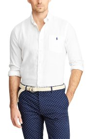Polo Ralph Lauren ανδρικό πουκάμισο λινό Classic Fit - 710744542006 - Λευκό