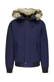 Polo Ralph Lauren ανδρικό μπουφάν με κουκούλα γούνα Faux-Fur-Trim Down - 710756920002 - Μπλε Σκούρο