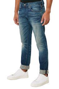 Polo Ralph Lauren ανδρικό τζην παντελόνι με ξεβαμμένη όψη - 710757420001 - Μπλε Ανοιχτό