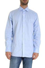 Polo Ralph Lauren ανδρικό πουκάμισο μονόχρωμο - 712735650003 - Γαλάζιο