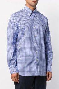 Polo Ralph Lauren ανδρικό πουκάμισο καρό Custom Fit Gingham - 712766318013 - Γαλάζιο