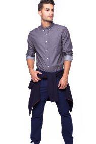 Ανδρικό πουκάμισο Chaps - 750662582001 - Γκρι