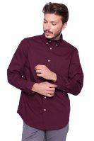 Ανδρικό πουκάμισο Chaps - 750676564002 - Μπορντό image