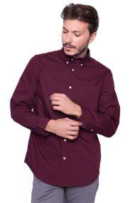 Ανδρικό πουκάμισο Chaps - 750676564002 - Μπορντό