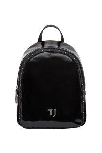 Trussardi Jeans γυναικείο backpack Portulaca με μεταλλικές λεπτομέρεις - 75B00539-9Y099999 - Μαύρο