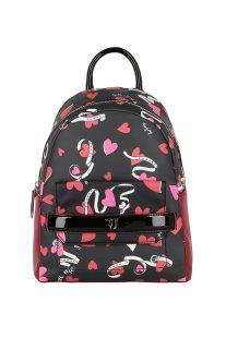 Trussardi Jeans γυναικείο backpack Paprica με print - 75B00557-9Y099993 - Μαύρο