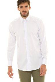 The Bostonians ανδρικό πουκάμισο με λεπτή ρίγα - A8P0011X - Λευκό