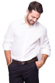Ανδρικό πουκάμισο The Bostonians - A8P1048 - Λευκό