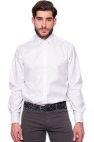 Ανδρικό πουκάμισο The Bostonians - A9P1009 - Λευκό