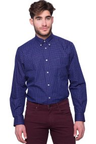 Ανδρικό πουκάμισο The Bostonians - AACH7152 - Μπλε Σκούρο