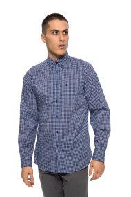 The Bostonians ανδρικό πουκάμισο καρό - AACH7386 - Μπλε