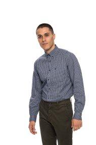 The Bostonians ανδρικό πουκάμισο καρό - AACH7386 - Μπλε Σκούρο