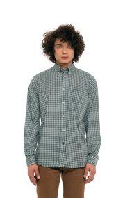 The Bostonians ανδρικό καρό πουκάμισο με τσεπάκι στο στήθος - AACH7441 - Πράσινο