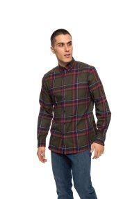 The Bostonians ανδρικό πουκάμισο με μεγάλα καρό - AACH7448 - Χακί