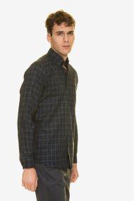 The Bostonians ανδρικό πουκάμισο καρό με λογότυπο - AACH7616 - Χακί