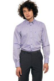 The Bostonians ανδρικό πουκάμισο μονόχρωμο με τσέπη - AAP0006 - Λιλά