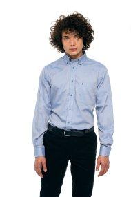 The Bostonians ανδρικό πουκάμισο μονόχρωμο με τσέπη - AAP0006 - Γαλάζιο
