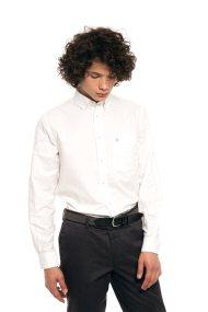 The Bostonians ανδρικό πουκάμισο μονόχρωμο με τσέπη - AAP0006 - Λευκό