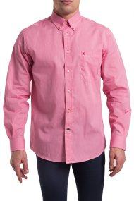 Ανδρικό μακρυμάνικο πουκάμισο καρό The Bostonians - AAP0016 - Ροζ