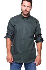 The Bostonians ανδρικό πουκάμισο μονόχρωμο με τσέπη και λογότυπο - AAP1050 - Κυπαρισσί