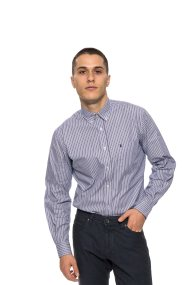 The Bostonians ανδρικό πουκάμισο ριγέ - AAS4332 - Γαλάζιο