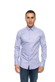 The Bostonians ανδρικό πουκάμισο με μικροσχέδιο Slim fit - ACP1235 - Ανοιχτό Γαλάζιο