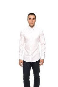 The Bostonians ανδρικό πουκάμισο με μικροσχέδιο Slim fit - ACP1235 - Λευκό