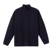 Lacoste γυναικείο πουλόβερ ribbed με ψηλό γιακά - AF0283 - Μπλε Σκούρο