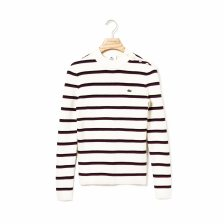 Lacoste γυναικεία πλεκτή μπλούζα με ρίγες - AF8197 - Εκρού