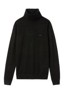 Lacoste γυναικείο πουλόβερ ζιβάγκο μονόχρωμο - AF8791 - Μαύρο f9aded5a8d6