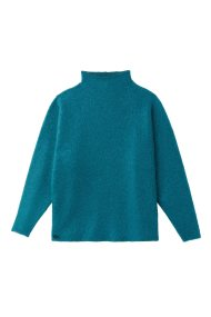 a955e1d700c7 Lacoste γυναικεία πλεκτή μπλούζα με χαμηλό ζιβάγκο - AF8889 - Τυρκουάζ